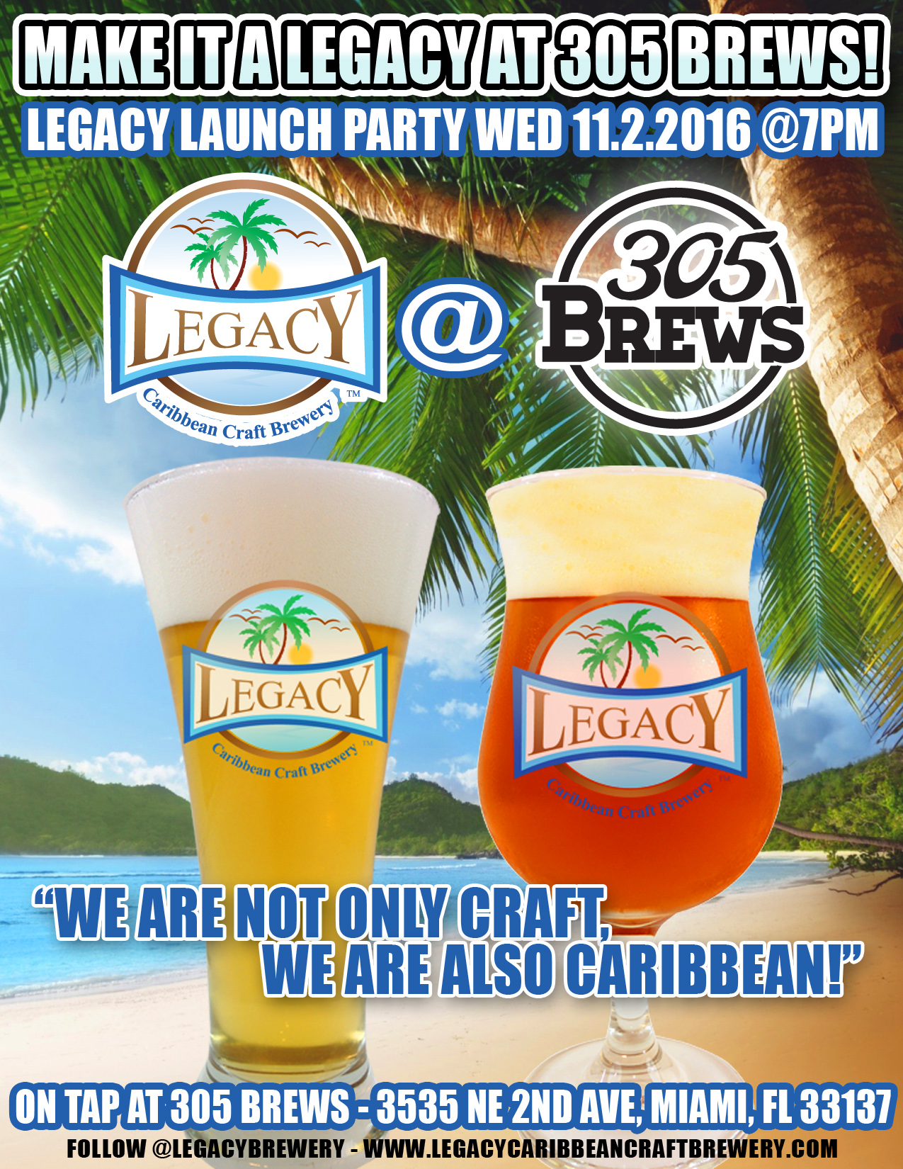305 Brews Legacy Launch Party - Miami Craft Beer Event