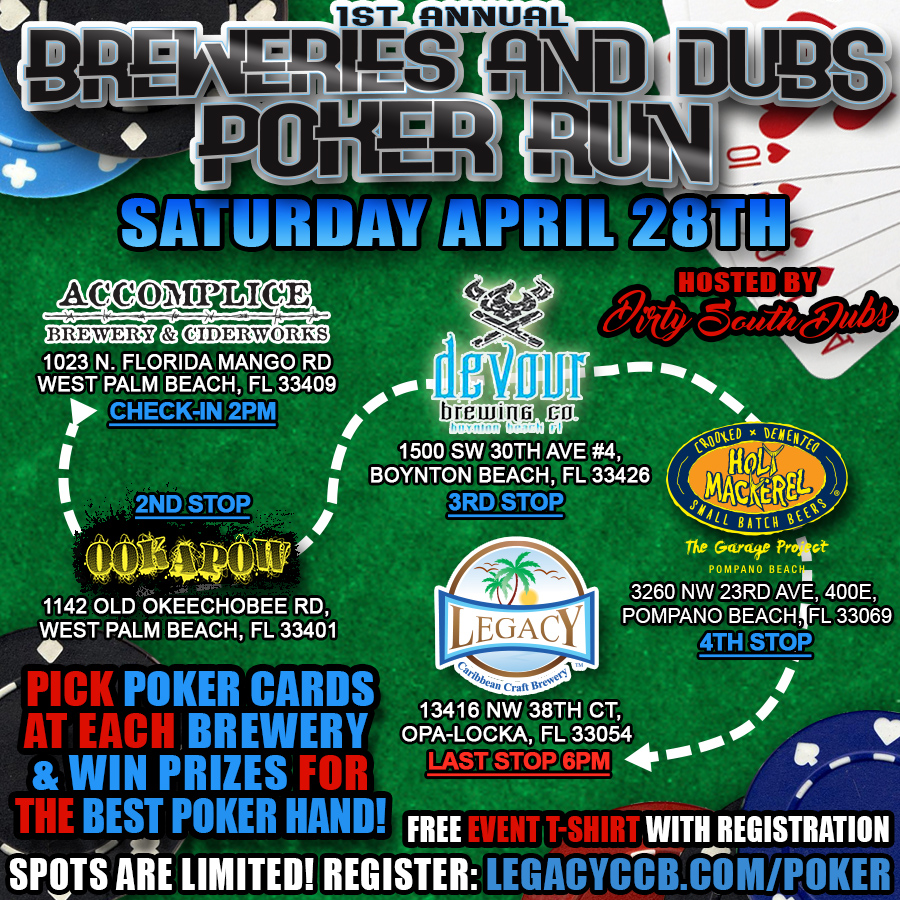 Breweries and Dubs Poker Run 2018