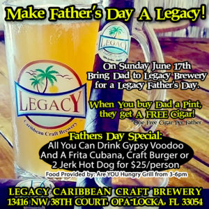 Fathers Day Specials at Legacy Brewery