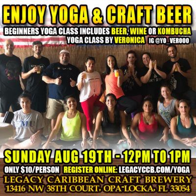 Yoga And Craft Beer at Legacy Brewery
