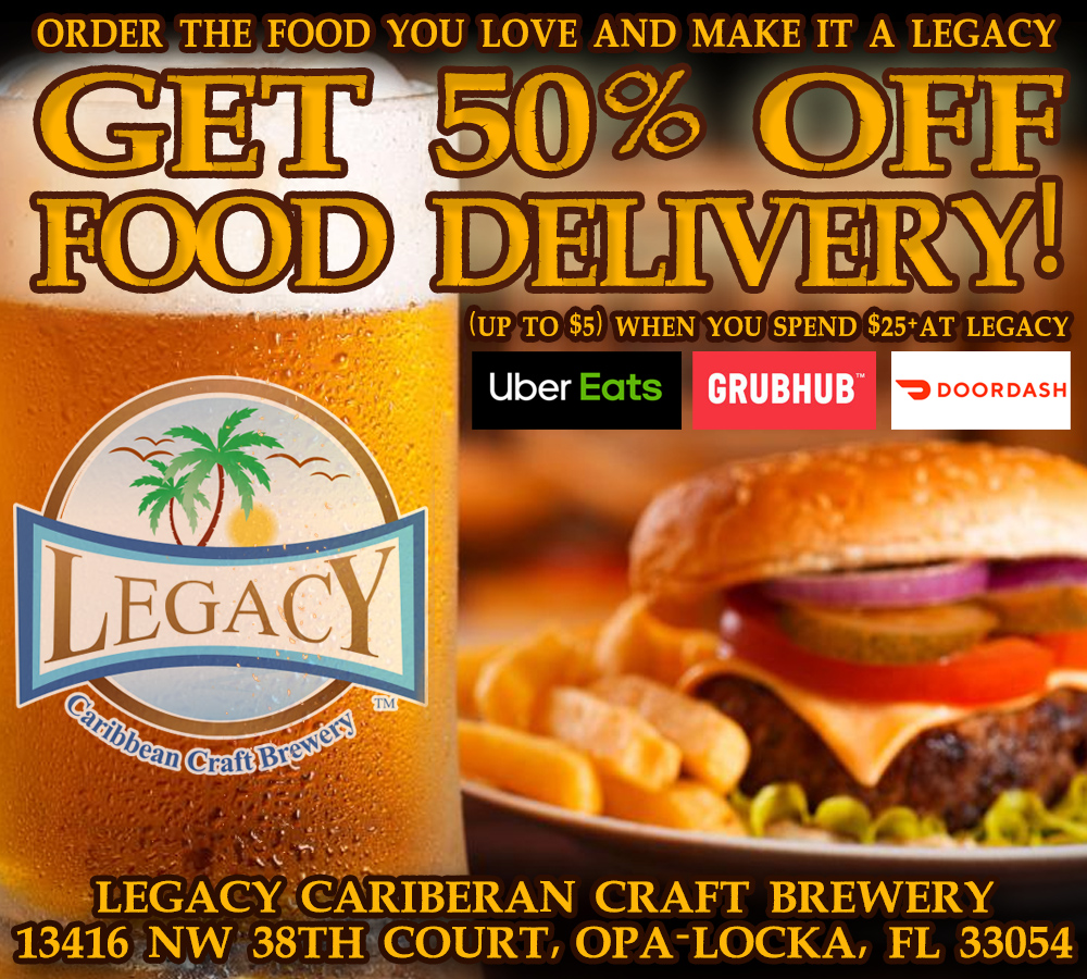 50 Percent Off Food Delivery at Legacy Brewery