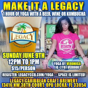 Yoga Class at Legacy Brewery in Opa-Locka Florida