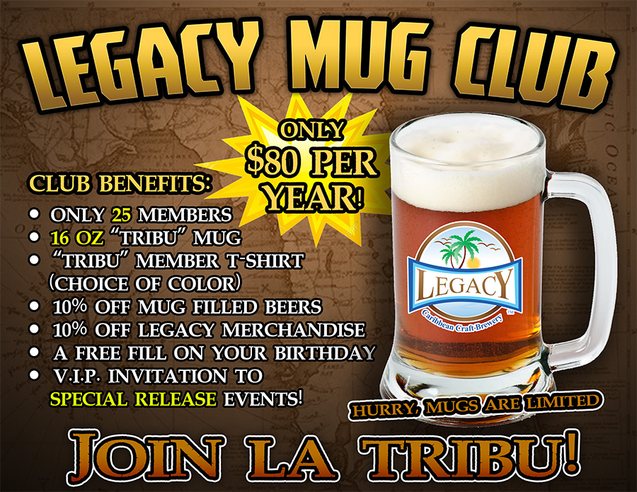 Join the Legacy Mug Club 2020 at Legacy Brewery