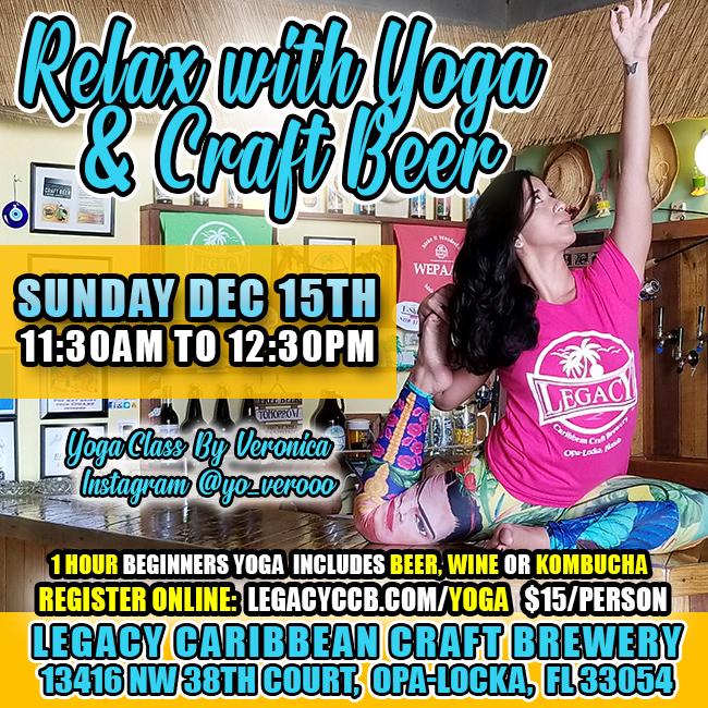 Yoga Class by Vero Legacy Brewery Miami Opa Locka Florida