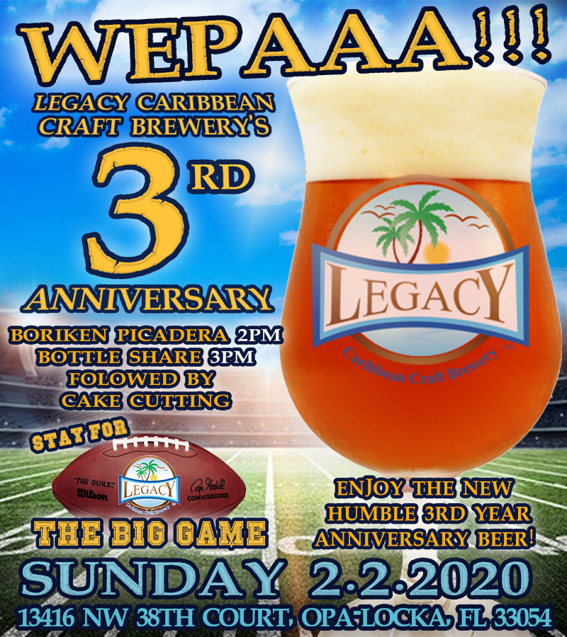 Legacy Caribbean Craft Brewery 3rd Anniversary