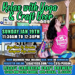 Yoga Class at Legacy Caribbean Craft Brewery