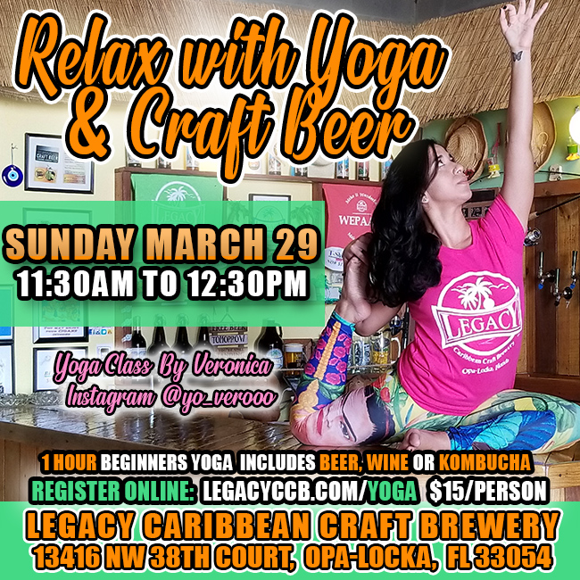 Yoga and Beer or Wine at Legacy Brewery